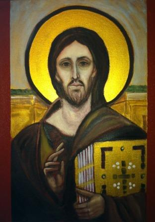 Painting of Icon of Christ Pantokrator