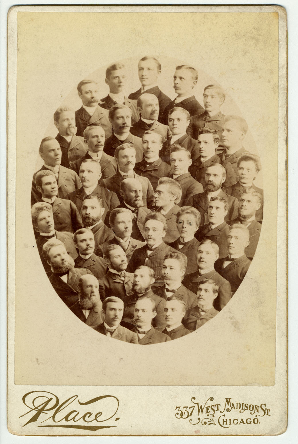 Composite of Swedish Department students at CTU, Risberg and D. Nyvall in middle (CAHL 5295)
