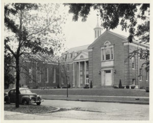 Nyvall Hall, early 1950s (image credit: CAHL 13365)