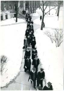 graduate_procession_in_front_of_old_main_1949