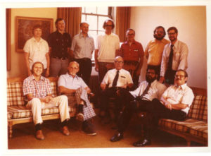 Seminary faculty, 1970s. Weborg is third from the right in the second row (Image credit: CAHL 19358)